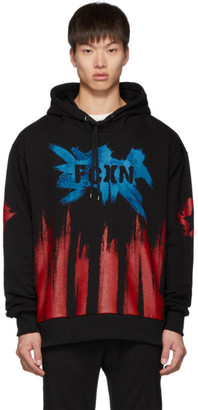 Faith Connexion Black FCXN Painted Hoodie