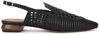 Souliers Martinez Gloria 25 black woven leather pumps