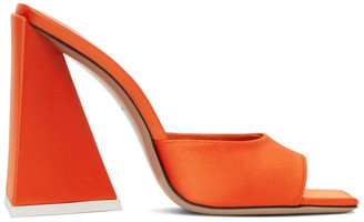 ATTICO Orange Satin Devon Heeled Sandals