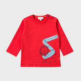 Paul Smith Baby Boys' Red Alphabet Lion Print 'Major' Top