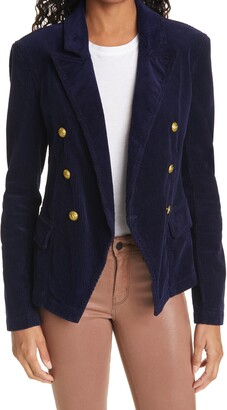L'Agence Kaydence Corduroy Double Breasted Blazer