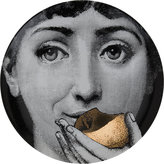 "Fornasetti Bite Of Gold Apple"" Plate"