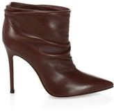 Gianvito Rossi Cyril Ruched Leather Ankle Boots