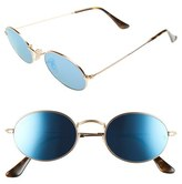 Ray-Ban Women's 51Mm Round Sunglasses - Gold/ Brown Mirror