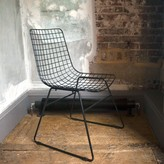 Graham and Green Wire Dining Chair In Black