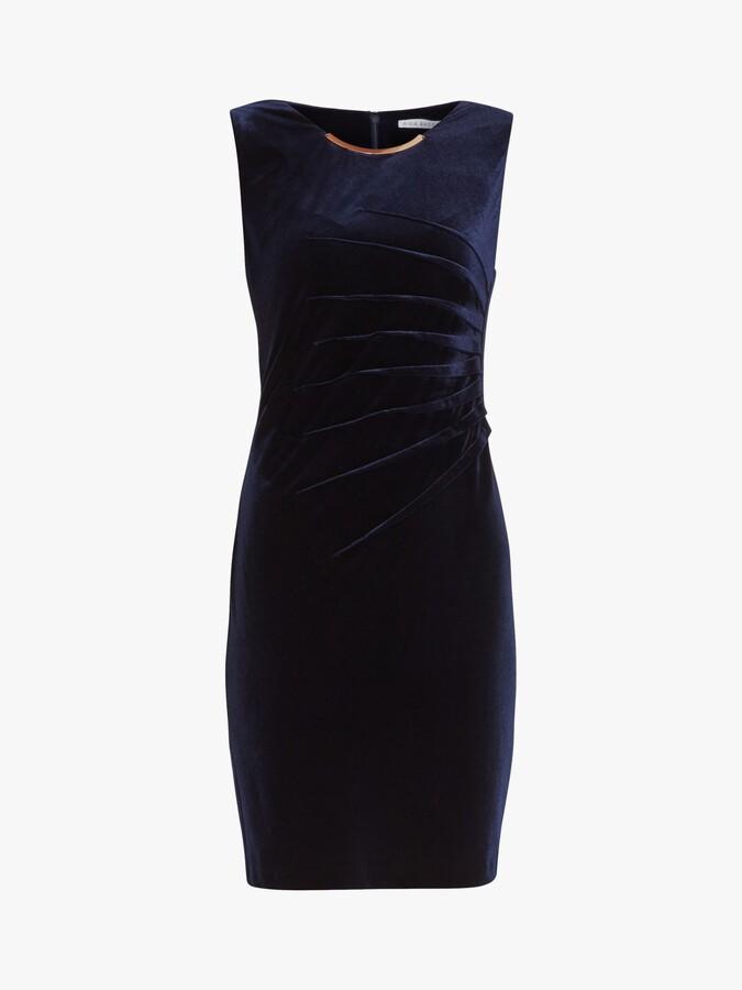 Thumbnail for your product : Gina Bacconi Gaela Velvet Shift Dress