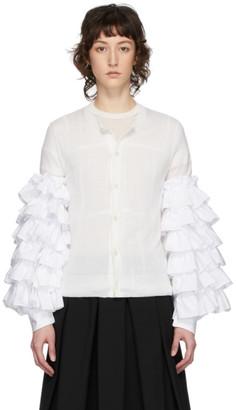 Comme des Garçons Comme des Garçons White Ruffled Sleeves