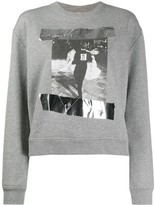 No.21 Photographic Print Sweatshirt