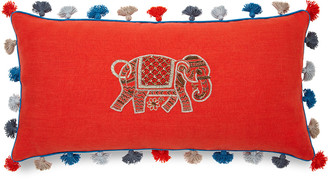 Joanna Buchanan Elephant Embroidered Pillow