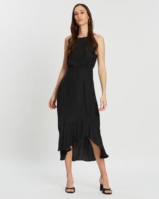 Vera Ruffled Midi Dress