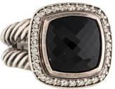 David Yurman Sterling Onyx & Diamond Albion Cocktail Ring