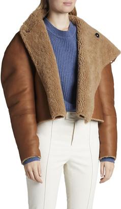 Isabel Marant High-Neck Reversible Shearling Moto Jacket