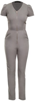 Philosofée By Glaucia Stanganelli Grey Tailored Jumpsuit