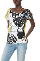 Desigual Women's Knitted T-Shirt Short Sleeve 53