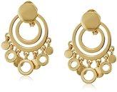 Anne Klein Gold-Tone Shaky Drop Clip-On Earrings