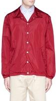 MAISON KITSUNÉ Logo print blouson windbreaker jacket