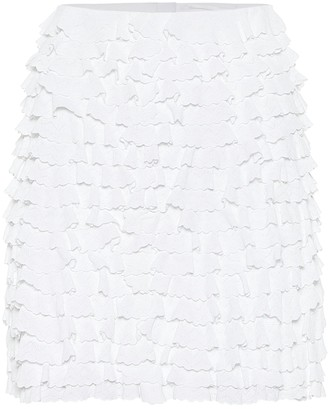 Alaia Ruffled high-rise miniskirt