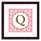 "Bed Bath & Beyond Monogram Rose Initial ""Q"" Wall Art"