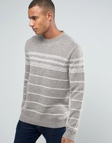 Esprit Crew Neck Knit With Fairisle Detail