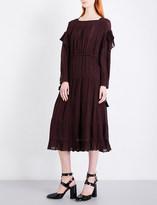 Masscob Houndstooth-pattern gauze dress
