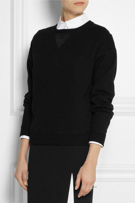 Jason Wu Wool and satin sweatshirt