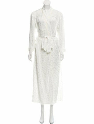 Christian Dior Floral Maxi Dress White
