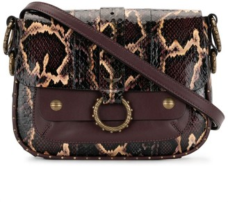 Zadig & Voltaire Snake-Print Shoulder Bag
