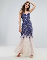 Lipsy Bandeau Fishtail Maxi Dress With Lace Detail