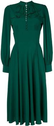 No.21 ruffle flare dress
