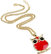 Amrita Singh Red Enamel Miami Owl Pendant Necklace