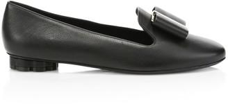Salvatore Ferragamo Sarno Bow Leather Loafers
