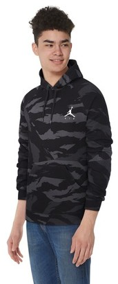 Jordan Club Fleece Hoodie Sweatshirt - Black / Grey