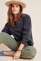 Anthropologie Fabienne Eyelet Sweatshirt
