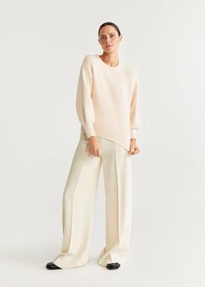 MANGO Puffed sleeves sweater light/pastel grey - S - Women