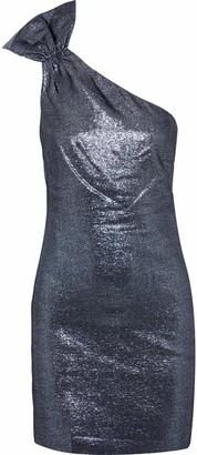 Rachel Zoe Sarrica One-shoulder Lame Mini Dress