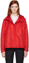 Moncler Gamme Rouge Red Hooded Faille Jacket