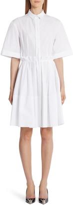 Alexander McQueen Ruffle Waist Pleated A-line Dress