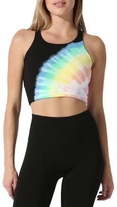 Electric & Rose Bella Tie-Dye Cropped Sports Bra