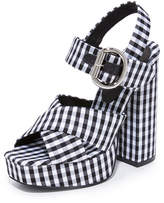 Jeffrey Campbell Elvina Gingham Platforms