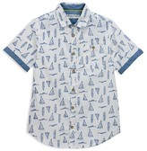 Sovereign Code Boys' Sailboat Print Button Down Shirt - Little Kid