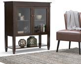 Carlton Simpli Home Dark Tobacco Brown Storage Cabinet