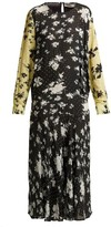 Preen Line Marin Floral-print Drop-waist Midi Dress - Womens - Black Multi