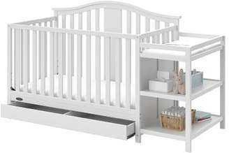 Graco Solano 4-in-1 Convertible Crib Changer with Storage Color: White