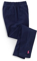Ralph Lauren Girls' Stretch Cotton Leggings - Little Kid