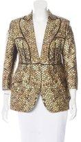 Alexander McQueen Honeycomb Brocade Jacket