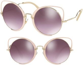 Miu Miu 54mm Irregular Cat Eye Sunglasses