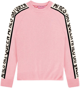 MC2 Saint Barth Queen Ski Cashmere Blended Pink Womans Sweater