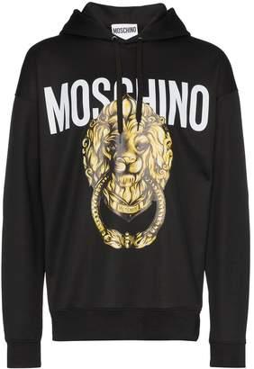Moschino lion print hoodie