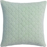 "CB2 August Quilted Mint 16"" Pillow With Feather Insert"
