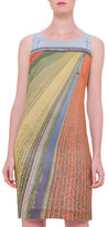 Akris Sleeveless Printed Sheath Dress, Multi Colors